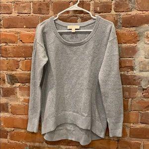 Michael Kors grey textured sweater